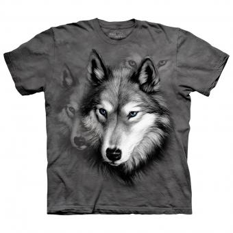T-Shirt Wolf Portrait grey | XXL