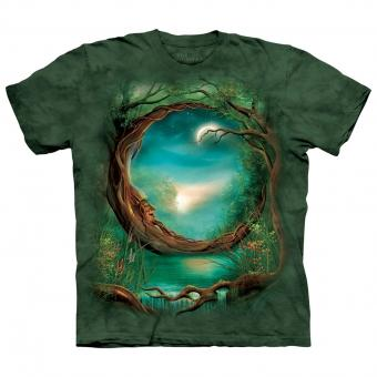 T-Shirt Moon Tree green | XL