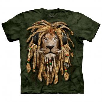 Kids T-Shirt DJ Jahman Lion green | L