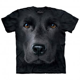 T-shirt Black Lab Face zwart | S