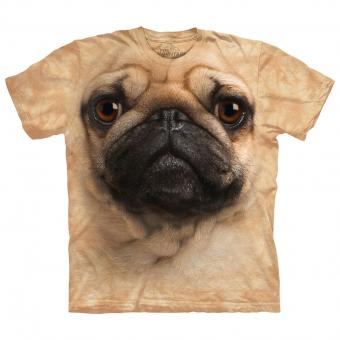 Kids T-Shirt Pug Face beige | XL