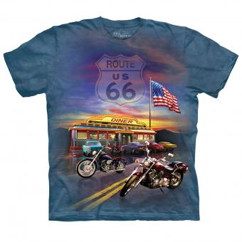 T-shirt Route 66 bleu | S