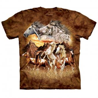 T-shirt Find 15 Horses marron | L