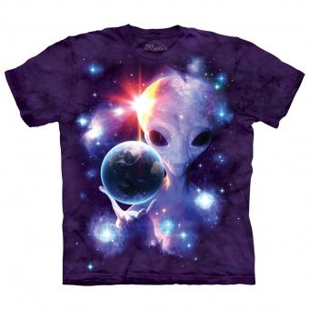 T-Shirt Alien Origins purple | S