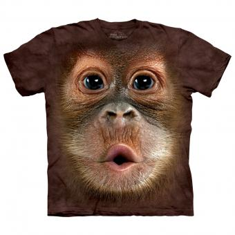 Kids T-Shirt Big Face Baby Orangutan brown | M
