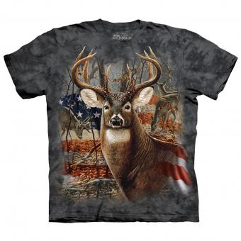 T-shirt Patriotic Buck zwart | M