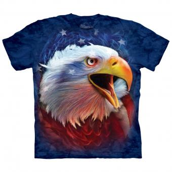 T-shirt Revolution Eagle blauw | S