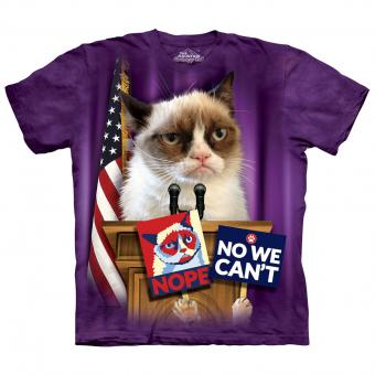 T-shirt Grumpy For President paars | 3XL