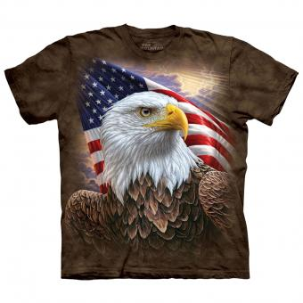 T-shirt Independence Eagle marron | S