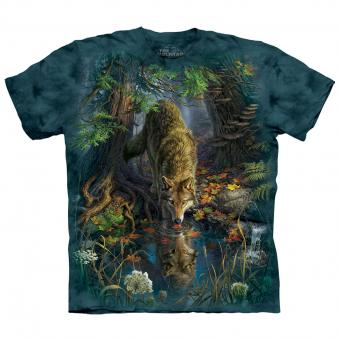 T-Shirt Enchanted Wolf Pool blue | M