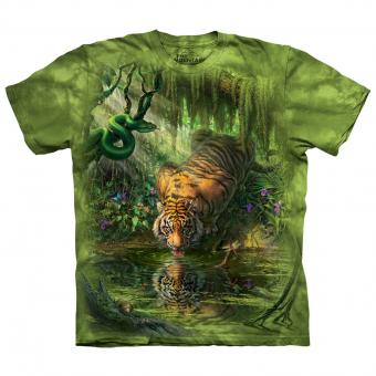 T-Shirt Enchanted Tiger green | S