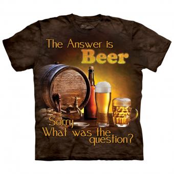 T-Shirt Beer Outdoor brown | S