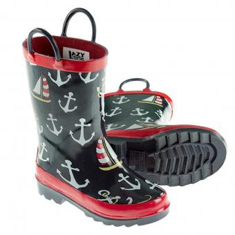 Kids Rain Boots (pair) Nautical Rain blue | 23