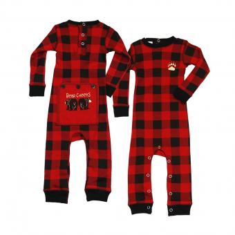 Baby Infant Flapjack Plaid Bear L