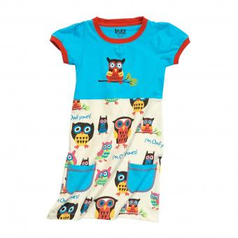 Kids T-Shirt Dress Girls I'm Owl Yours 2