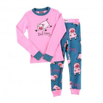 Kids PJ Set Long-Sleeve Kids Bed Hog 3