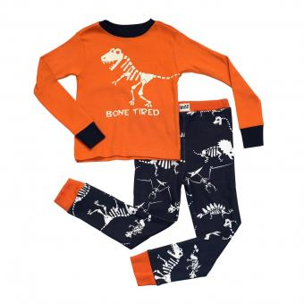 Kids PJ Set Long-Sleeve Kids BoneTired Dinosaur 6