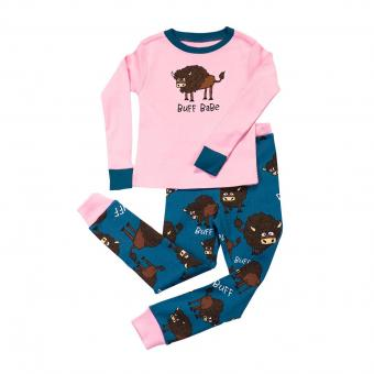 Kids PJ Set Long-Sleeve Kids Buff Babe 4