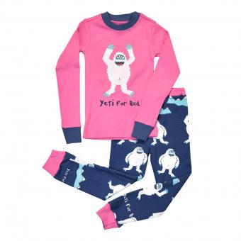 Kids PJ Set Long-Sleeve Kids Yeti For Bed 2