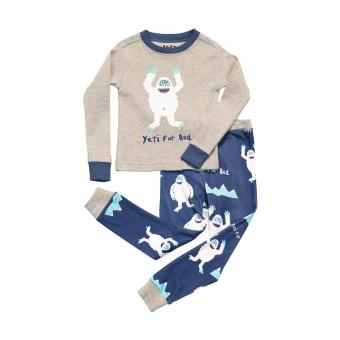 Kids PJ Set Long-Sleeve Kids Yeti For Bed 10