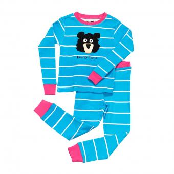 Kids PJ Set Long-Sleeve Kids Bearly Tame blue | 3