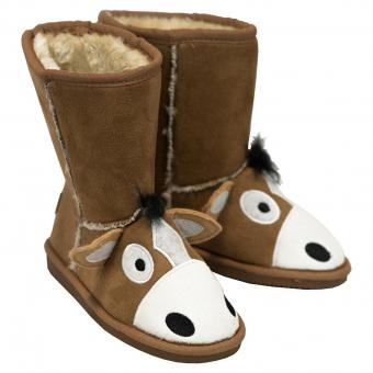 Kids Toasty Toez Slippers Kids (pair) Horse brown | M