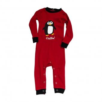 Baby Sleepsuit Infant Out Cold Chill' red | M