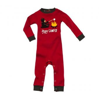 Baby Sleepsuit Infant Happy Camper red | M