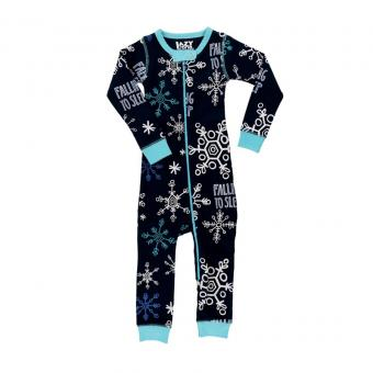 Baby Sleepsuit Infant Thermal Falling To blue   S