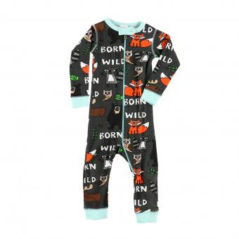 Baby Sleepsuit Infant Born to be Wild blue | L