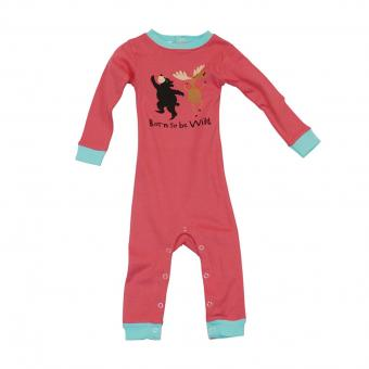 Baby Sleepsuit Infant Born to be Wild red | S