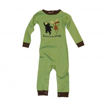 Baby Sleepsuit Infant Born to be Wild green | S