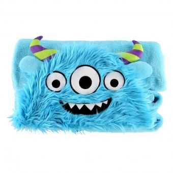Kids Critter Blankets Hooded Critter Fleece blue