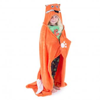 Kids Critter Blankets Hooded Critter Fleece orange
