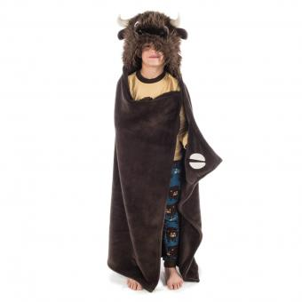 Kids Critter Blankets Hooded Critter Fleece brown