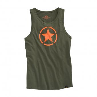 Alpha Industries Star Tanktop oliv | XXL