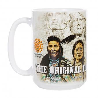 The Mountain Keramik Becher American The Originals weiß
